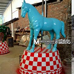 玻璃钢雕塑马