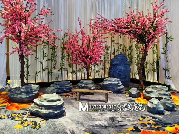 重庆泡沫石头假山舞台道具
