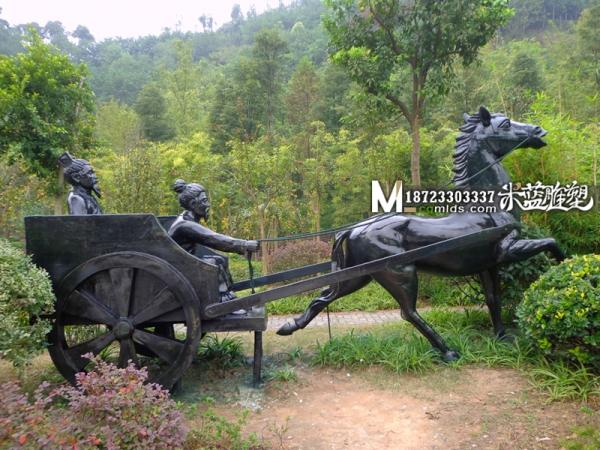 重庆玻璃钢雕塑维修马拉车