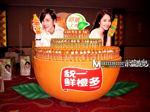 重庆泡沫雕塑橙子展柜货架