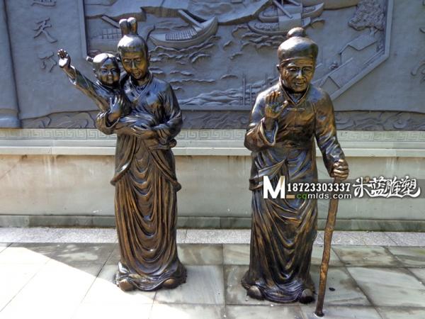 重庆雕塑玻璃钢古代人物雕塑