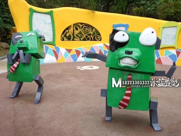 重庆玻璃钢雕塑卡通动物雕塑机器狗
