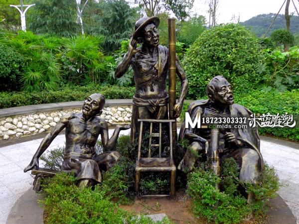 重庆雕塑玻璃钢人物旧社会人民