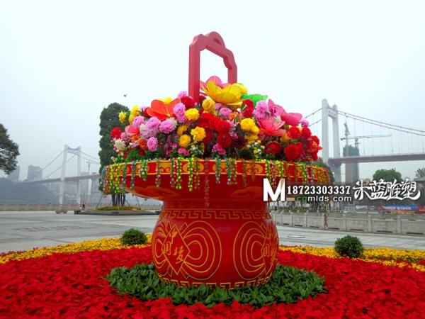重庆雕塑泡沫花篮雕刻