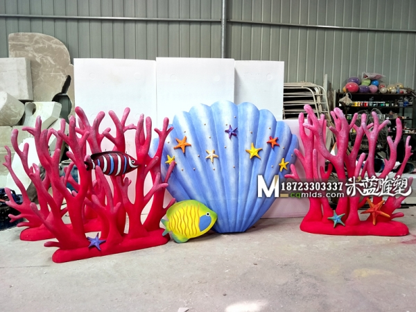 婚庆泡沫道具珊瑚贝壳小丑鱼