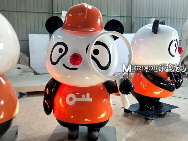 玻璃钢雕塑熊猫