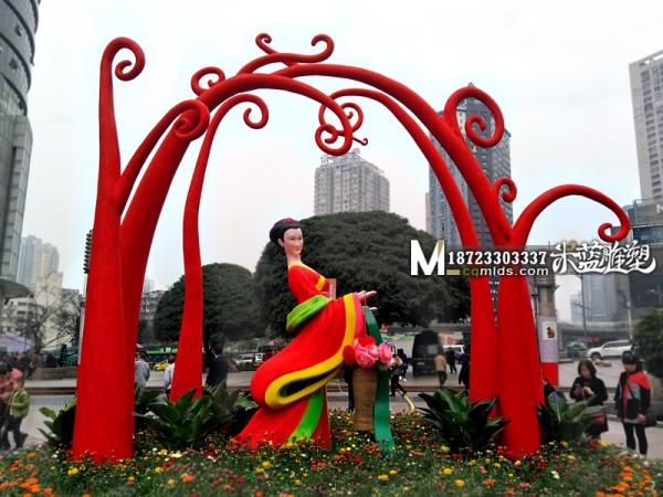 仙女泡沫雕塑
