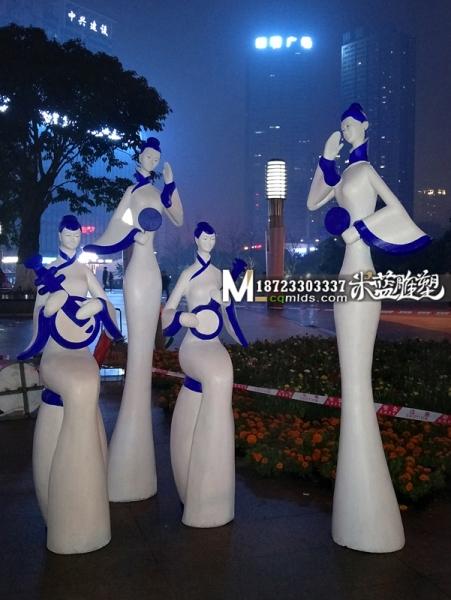 泡沫人物雕塑古代女子