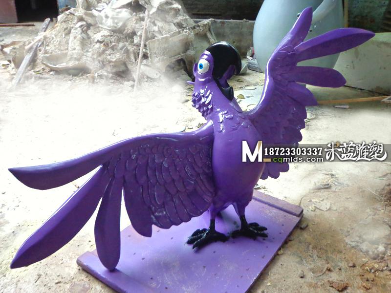 重庆玻璃钢雕塑鹦鹉制作