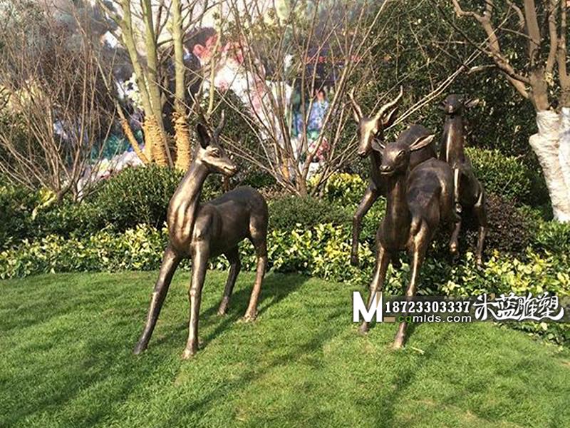 重庆铜雕雕塑鹿子