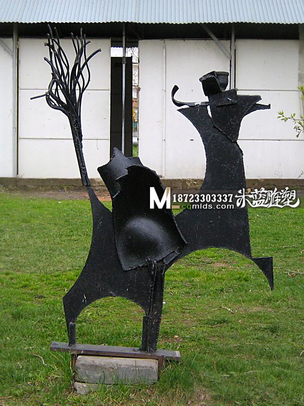 重庆铁皮雕塑抽象人物雕塑