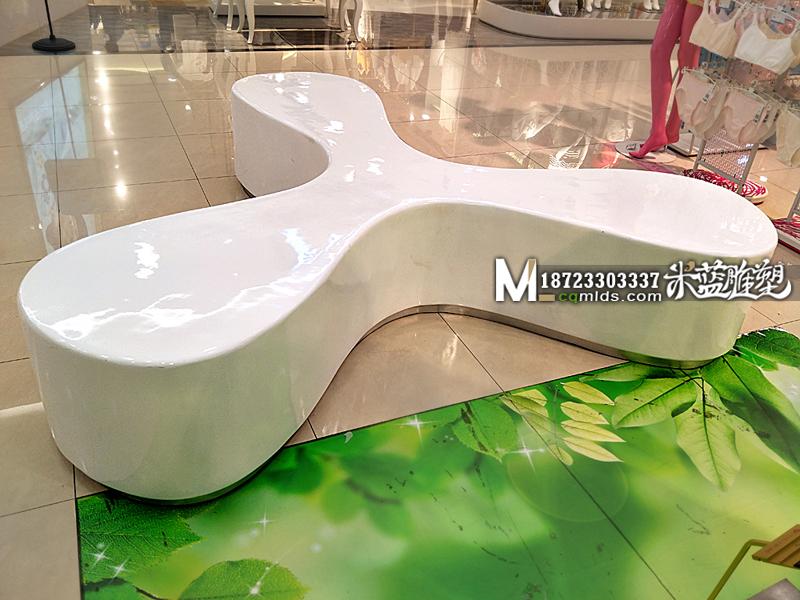 重庆玻璃钢凳子艺术长凳