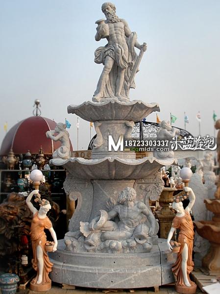 重庆石雕喷水池欧式复古人物