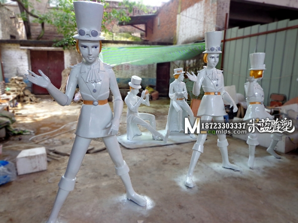 昆明玻璃钢卡通人物雕塑制作