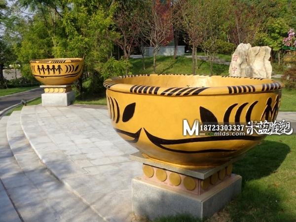 重庆水泥雕塑花钵