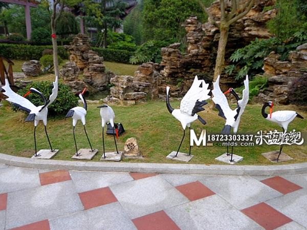 重庆水泥雕塑GRC雕塑丹顶鹤