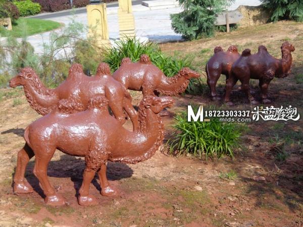 重庆水泥雕塑GRC雕塑动物骆驼