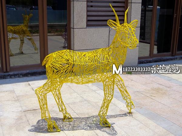 重庆雕塑铁艺铁皮雕塑鹿子