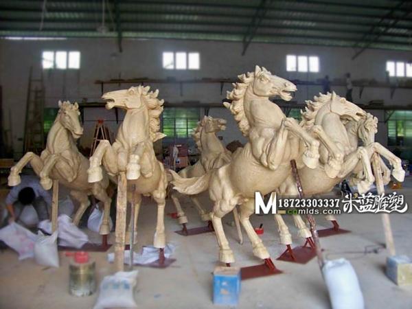 昆明砂岩雕塑动物马