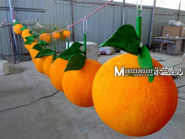 重庆泡沫雕塑水果橙子