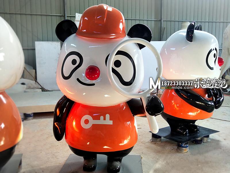 卡通熊猫,重庆玻璃钢卡通熊猫,玻璃钢雕塑熊猫,重庆玻璃钢雕塑厂
